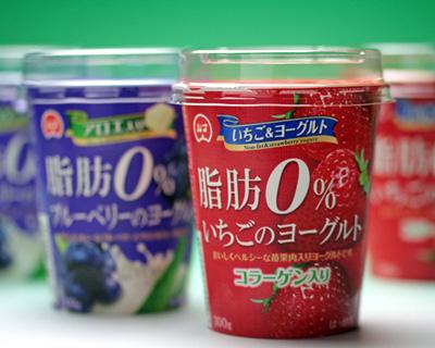 脂肪0%ヨーグルト(いちご・ブルーベリー)
