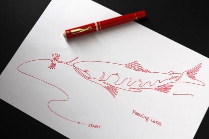 DELTA Via Veneto万年筆にエルバンのOperaインクを使用